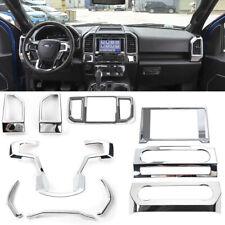 Chrome Car Interior Decor Accessories Air Vent &Console Cover Trim For Ford F150