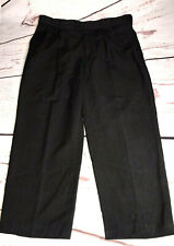 Braggi By Louis Raphael 36X26  Men's Dress Pants Hidden Extension Black Pleated