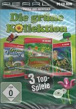 PC CD-ROM + Die grüne Kollektion + Puzzle + Abenteuer + 3 Top Spiele + Win 7