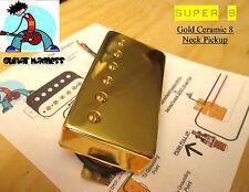 G.M. Super 8 Neck Humbucker Gold Ceramic 8 magnets 7.3k Crystal Clear sound
