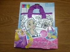 Disney Princess Color N Style Fashion Tote Activity Rapunzel Tangled Craft 3+