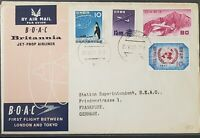 BOAC Japan Tokyo 1957 To Germany First Flight Cover