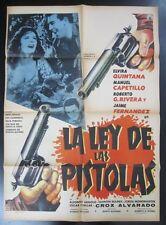 """""""La Ley de las Pistolas"""" - Orig. Theatr. Poster, 1960 / 36 5/8"""" x 26 1/2"""", NF"""