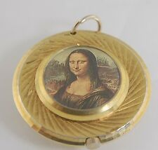 (1560)Lucerne Pendant Style Watch (w/ Mona Lisa on back)