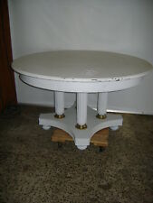 """RETAIL STORE DISPLAY 54"""" ROUND WHITE PAINTED TABLE"""