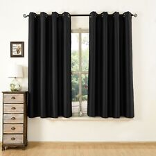 2 Panels Thermal Blackout Grommet Window Curtains Insulated Eyelet Top Drapes