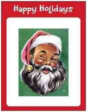 20 African American SANTA CHRISTMAS Holiday Greeting POST CARDS  Print US OR CAN