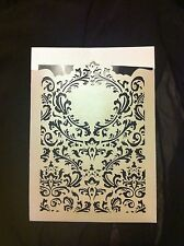 Laser Cut Paisley Wedding Pocket & Matching Envelope Cream Pearl Invitation A7