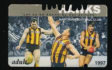 1997 Hawthorn Membership Season Card Hawks ticket