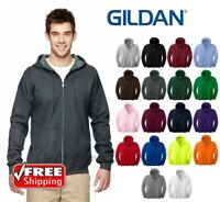 Gildan Zip Up HOODIE Blend Full Hooded POCKET Sweatshirt NEW Soft Mens 18600