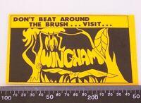 RARE VINTAGE DON'T BEAT AROUND THE BUSH WINGHAM AUSTRALIA SOUVENIR PROMO STICKER
