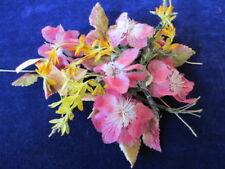 """Vintage Millinery Flower Collection Pink Yellow 1/2-2"""" German H2530"""