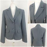 Debenhams Collection Womens Grey Suit Jacket Blazer Smart Work Office Size 12