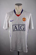 Manchester United Trikot 2008-2009 Gr. L Nike weiß Away Jersey AIG