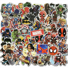 100Pcs Iron man Spiderman Superman Kids Marvel Superhero Sticker Stickerbomb Lot