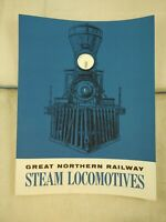 Vintage 1976 Great Northern Railway Steam Locomotives Trains Booklet NOS (M1)
