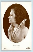 STUNNING GRETA GARBO REAL PHOTO POSTCARD - 1920s FILM ACTRESS MOVIE RPPC - W1