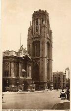 BRISTOL ART GALLERY and University Tower - Original Postcard (259)