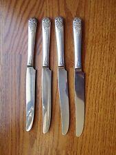 Four Oneida Margate Silverplate Dinner Knives