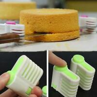 2pcs 5 Layers DIY Cake Bread Cutter Leveler Slicer Cutting Fixator Tools L&6