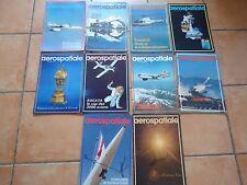 LOT revues AEROSPATIALE 1976 complet aviation ariane hélicoptère Airbus CONCORDE