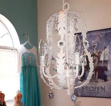 Frozen Elsa Disney Swarovski Icicle Crystals Girls room petite chandelier plugop