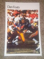 """Dan Fouts (Mini Poster) # 26 of 50  NFL 1980 5.5"""" x 8.5""""  Thick Card Stock"""