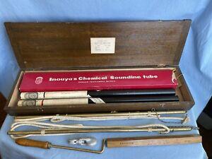 Antique Nautical Nunotani Seiki Kelvin Sounding Machine Depth Measure Instrument