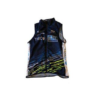 New 2020 Women's Voler Team Tibco Pro Cycling Wind Vest, Navy, Size XS