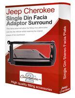 Jeep Cherokee stereo radio CD Facia Fascia adapter panel trim with pocket