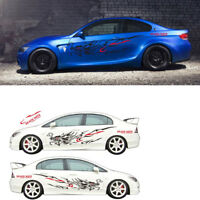 1 Pair Car SUV Both Body Sides Vinyl Faucet Flame Totem Graphic Decal Stickers