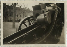 PHOTO ANCIENNE - VINTAGE SNAPSHOT - MILITAIRE CANON CASERNE - MILITARY WEAPON 2