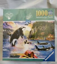 "New Ravensburger 1000 Piece Jigsaw Puzzle Close Encounters Orcas 27"" x 20"""