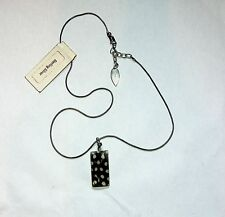 NWT Coldwater Creek Sterling Silver Glass Feather Pattern Necklace