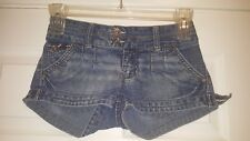 YMI From City of Angels Double-Button Jean Shorts Stretch in Junior's size 1
