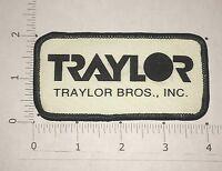Traylor Bros. Inc Patch - Vintage - Construction