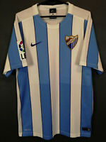 MEN'S NIKE FC MALAGA 2015/2016 HOME SOCCER FOOTBALL SHIRT JERSEY MAILLOT SIZE S