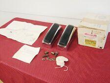 76 77 PONTIAC GRAND LEMANS CAN AM NOS GM CHROME REAR BUMPER GUARDS PT# 989265