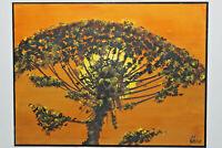 Gemälde Baum mit Sonne von Alfred Götte Hofgeismar 1989