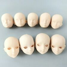 "9pcs Soft Plastic Practice Makeup DIY Doll Head For 11.5"" Doll Heads Accessories"