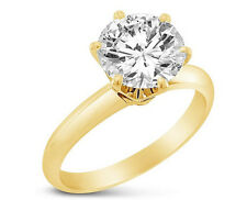 1Ct Engagement Ring Band Ring Lab Diamond Solid 14k Yellow Gold