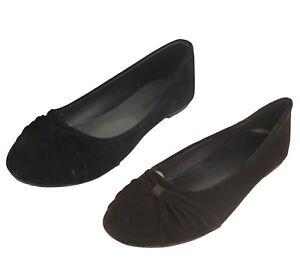 Women's Velvet Flats Shoes Black Brown New
