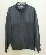 Orvis XL Mens Gray Ultimate Foul Weather Sweater Wool full Zipper lined shooting