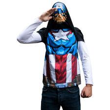 BNWT Marvel Capitán América alter ego de manga larga T-Shirt - 2 estilos en 1 Talla M