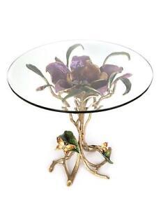 $9250 NEW Jay Strongwater Marjorie Magnolia Table Bouquet BRONZE SWAROVSKI RARE!