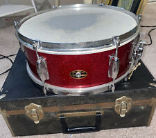 1960s Slingerland Vintage Red Fleck Snare Drum w/ Original Case
