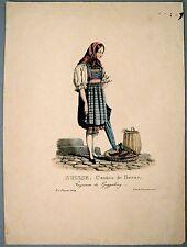 Lithographie de Engelmann, Suisse, Berne, costume