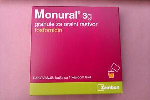 Monurol Fosfomycin 3g bag, Urethritis Cystitis Urinary Tract Infections