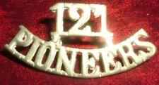 SHOULDER TITLES-INDIAN WW1 1902-1922 121st PIONEERS
