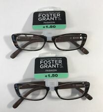 LOT OF 2 - Reading Glasses Foster Grant Maggie CHR +1.50 NEW